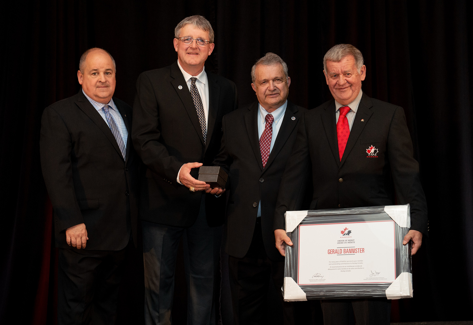 Gerald Bannister (Moncton, NB), recipient of Hockey Canada Order of Merit, Atlantic